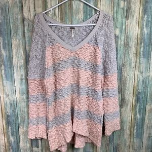Free People Songbird Inside Out Style Sweater SM